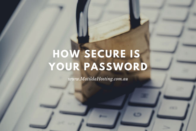 How secure is your password? - image